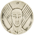 Transportation:Aviation, 1930 Chicago National Air Races Commemorative Medal, 63mm,silver-toned metal, possibly steel, with mat finish, exceptional... (Total: 1 Item)