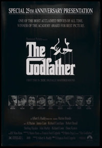 """The Godfather (Paramount, R-1997). One Sheet (27"""" X 40"""") Special 25th Anniversary Presentation. Academy Award..."""