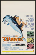 "Movie Posters:Adventure, Flipper (MGM, 1963). Window Card (14"" X 22""). Adventure. ..."