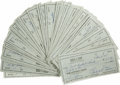 Autographs:Checks, Massive Collection of Bobby Doerr Signed Checks Lot of 100. Tremendous dealer lot that we offer here collects a total of 10...