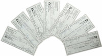 Payne Stewart Signed Checks Lot of 7. Best remembered for his old school golfing attire and the bizarre and tragic manne...