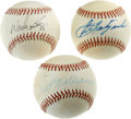 Autographs:Baseballs, Ted Williams/ Wade Boggs/ Carl Yastrzemski Single Signed BaseballsLot of 3. Three of the most famous players to ever don a...