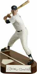 "Autographs:Letters, Mickey Mantle Signed Salvino Figurine. The 10"" figurine that weoffer here depicts the great switch hitter Mickey Mantle m..."