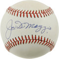 Autographs:Baseballs, Joe DiMaggio Single Signed Baseball . No serious baseball autographcollection could be considered complete without a speci...