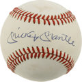 Autographs:Baseballs, Mickey Mantle Single Signed Baseball Yet another great example ofthe hobby-favorite Mickey Mantle single, which displays q...