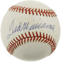 Autographs:Baseballs, Ted Williams Single Signed Baseball. Possibly the most scientifichitters of all time placed his signature (9+/10) nicely o...