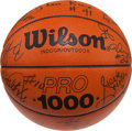 Basketball Collectibles:Balls, 1993-94 Miami Heat Team Signed Basketball....