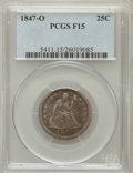 Seated Quarters: , 1847-O 25C Fine 15 PCGS. PCGS Population (9/47). NGC Census:(1/30). Mintage: 368,000. Numismedia Wsl. Price for problem fr...