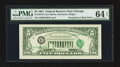 Error Notes:Third Printing on Reverse, Fr. 1976-G $5 1981 Federal Reserve Note. PMG Choice Uncirculated 64 EPQ.. ...
