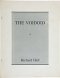 Books:Art & Architecture, Richard Hell. The Voidoid. [New York]: Cuz, [1991]. First edition. Colophon page states that this is one of 521 ...