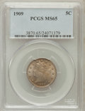 Liberty Nickels: , 1909 5C MS65 PCGS. PCGS Population (64/22). NGC Census: (58/9).Mintage: 11,590,526. Numismedia Wsl. Price for problem free...