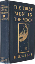 Books:Science Fiction & Fantasy, H. G. Wells. The First Men in the Moon. Indianapolis: The Bowen-Merrill Company, [1901]. First edition. Octavo. 312 ...