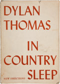 Books:Literature 1900-up, Dylan Thomas. In Country Sleep. New York: A New DirectionsBook, 1952. First edition limited to 100 copies print...