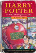 Books:Children's Books, J. K. Rowling. Harry Potter and the Philosopher's Stone.[London]: Bloomsbury, [1997]. One of the 500 first edit...