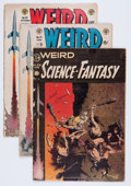 Golden Age (1938-1955):Science Fiction, Weird Science-Fantasy Group (EC, 1954-55) Condition: AverageGD+.... (Total: 4 Comic Books)