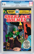 Bronze Age (1970-1979):Miscellaneous, Sherlock Holmes #1 (DC, 1975) CGC NM+ 9.6 White pages....