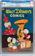 Golden Age (1938-1955):Cartoon Character, Walt Disney's Comics and Stories #154 (Dell, 1953) CGC NM- 9.2Off-white pages....