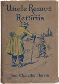 Books:Children's Books, Joel Chandler Harris. Uncle Remus Returns. Boston & NewYork: Houghton Mifflin, 1918. First edition, in scarce dus...