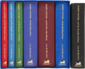 Books:Children's Books, J. K. Rowling. The Harry Potter Series in the Deluxe Bindings byBloomsbury, including: Harry Potter and the Philosopher...(Total: 9 Items)