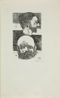 Art:Illustration Art - Mainstream, Signed by Artist Leonard Baskin. Rodolphe Bresdin and Odilon Redon.Bresdin to Redon, Six Letters 1870 to 1881...