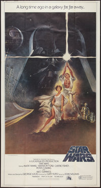 "Star Wars (20th Century Fox, 1977). International Three Sheet (41"" X 81"") Style A Flat Folded. Science Fiction..."