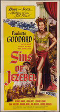 "Movie Posters:Historical Drama, Sins of Jezebel (Lippert, 1953). Three Sheet (41"" X 79"").Historical Drama.. ..."