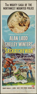 "Movie Posters:Adventure, Saskatchewan (Universal International, 1954). Insert (14"" X 36"").Adventure.. ..."