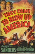 "Movie Posters:Drama, They Came to Blow Up America (20th Century Fox, 1943). One Sheet(25.5"" X 39.5""). Drama.. ..."