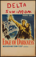 "Movie Posters:War, Edge of Darkness (Warner Brothers, 1943). Window Card (14"" X 22"").War.. ..."