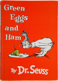 Dr. Seuss. Green Eggs and Ham. First London edition, with an original sketch, lai