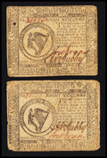Colonial Notes:Continental Congress Issues, Continental Currency May 9, 1776 $8 Very Fine and Extremely FinePair.. ... (Total: 2 notes)