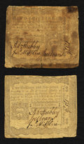 Colonial Notes:Pennsylvania, Pennsylvania April 3, 1772 2s and 2s6d Fine and Very Fine.. ...(Total: 2 notes)