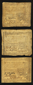 Colonial Notes:Pennsylvania, Pennsylvania April 3, 1772 2s Fine to Very Fine Triplet.. ...(Total: 3 notes)