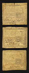 Colonial Notes:Pennsylvania, Pennsylvania April 3, 1772 2s Very Fine Threesome.. ... (Total: 3notes)