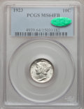Mercury Dimes: , 1923 10C MS64 Full Bands PCGS. CAC. PCGS Population (352/530). NGCCensus: (231/311). Mintage: 50,130,000. Numismedia Wsl. ...