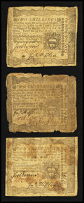 Colonial Notes:Pennsylvania, Pennsylvania April 3, 1772 2s Fine-Very Fine Triplet.. ... (Total:3 notes)
