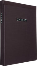 Books:Fine Press & Book Arts, [Limited Editions Club]. [Cavafy]. A Tribute to Cavafy. A Selection of Poems with Photogravures by Duane Michals...