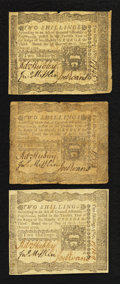 Colonial Notes:Pennsylvania, Pennsylvania April 3, 1772 2s Very Fine Trio.. ... (Total: 3 notes)