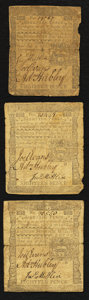Colonial Notes:Pennsylvania, Pennsylvania April 3, 1772 18d Fine to Very Fine - Three Examples..... (Total: 3 notes)