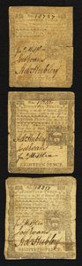 Colonial Notes:Pennsylvania, Pennsylvania April 3, 1772 18d Fine to Very Fine Triplet.. ...(Total: 3 notes)