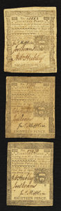 Colonial Notes:Pennsylvania, Pennsylvania April 3, 1772 18d Fine to Very Fine Threesome.. ...(Total: 3 notes)