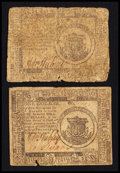 Colonial Notes:Continental Congress Issues, Continental Currency February 17, 1776 $1 Good to Very GoodTwosome.. ... (Total: 2 notes)
