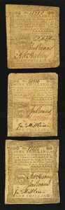 Colonial Notes:Pennsylvania, Pennsylvania April 3, 1772 1s Fine to Very Fine Threesome.. ...(Total: 3 notes)