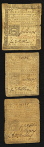 Colonial Notes:Pennsylvania, Pennsylvania April 3, 1772 1s Very Good to Very Fine Triplet.. ...(Total: 3 notes)
