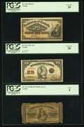 Canadian Currency: , Shinplaster Design Type Set PCGS Graded.. ... (Total: 3 notes)
