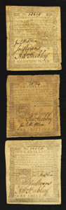 Colonial Notes:Pennsylvania, Pennsylvania March 20, 1773 4s Fine to Very Fine Trio.. ... (Total:3 notes)