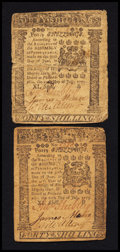 Colonial Notes:Pennsylvania, Pennsylvania July 20, 1775 40s Fine-Very Fine Duo.. ... (Total: 2notes)