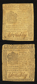 Colonial Notes:Pennsylvania, Pennsylvania April 3, 1772 9d Very Good to Fine.. ...