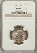 Washington Quarters: , 1932-S 25C MS65 NGC. NGC Census: (61/5). PCGS Population (113/4).Mintage: 408,000. Numismedia Wsl. Price for problem free ...