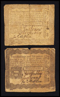 Colonial Notes:Pennsylvania, Pennsylvania April 3, 1772 2s 6d Fine Duet.. ... (Total: 2 notes)